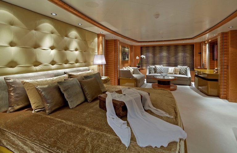 High quality furniture, art, amenities.