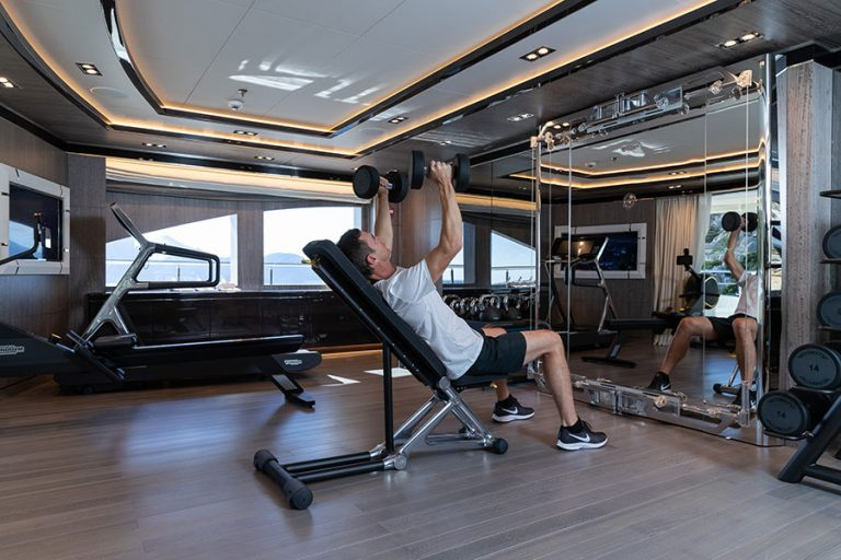 Well-equipped dedicated Gym.