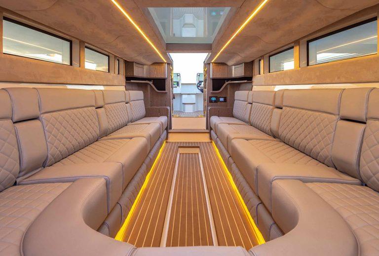 Transport ashore in pure comfort.