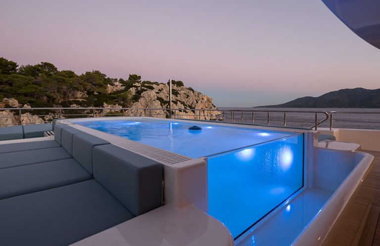 Large pool for exercise or leisure.
