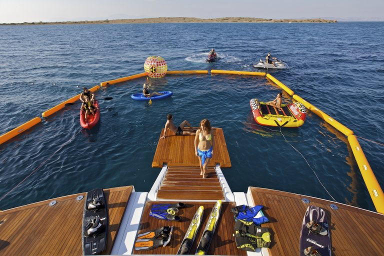 A wide range of toys in plethora for a large group on board.  The first Superyacht in her category to introduce the most trendy water toys.