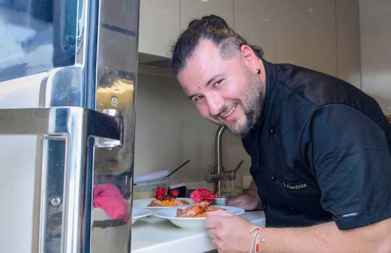 Chef George Pagoudis on board.