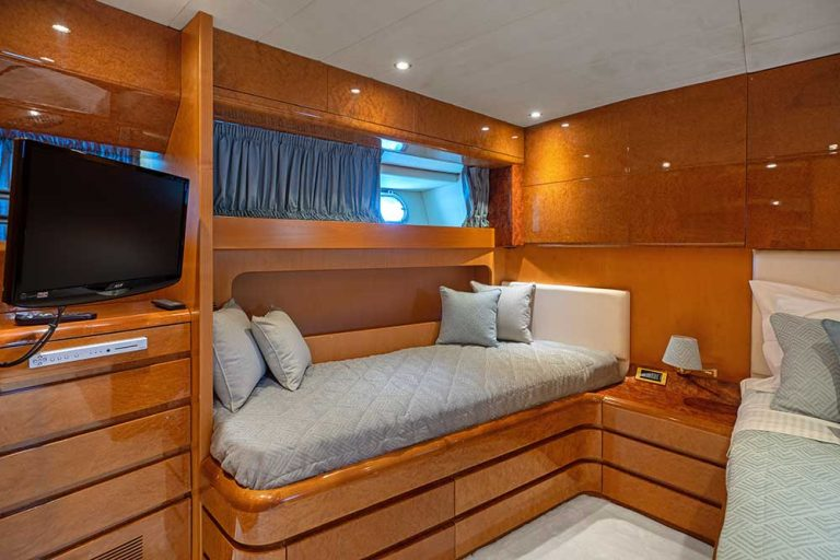 Accommodation for  up to 11 guests in 4 cabins.