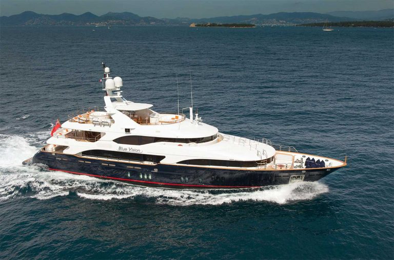 Flawless attractive Benetti in blue hull.