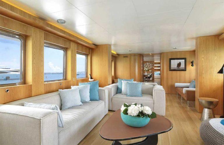 Contemporary comfortable  interior new fabrics.