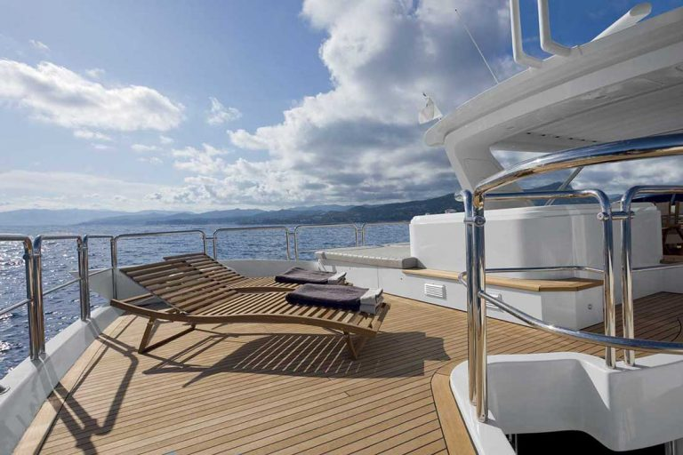 Vast space in well appointed deck areas.