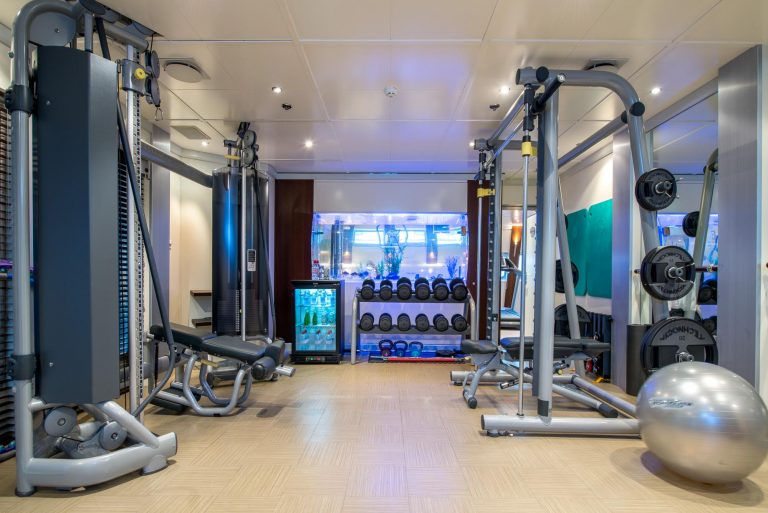 Stay fit in well equipped gym.