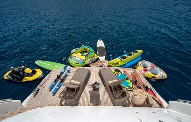 Swimming platform, water toys.