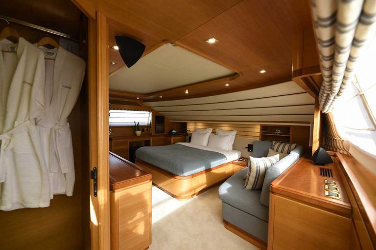 Spacious and elegant on the main deck.
